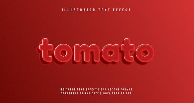 Effetto di carattere di testo lucido rosso lucido carino