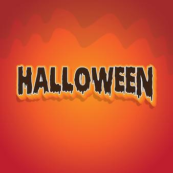 Effetto di carattere logo testo di halloween