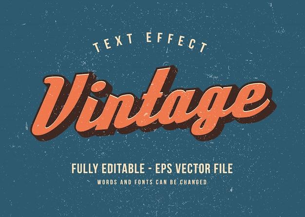Effetto di carattere modificabile effetto testo 3d vintage