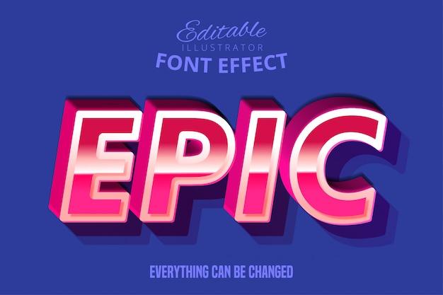 Effetto di carattere tipografia modificabile moderno retrò script