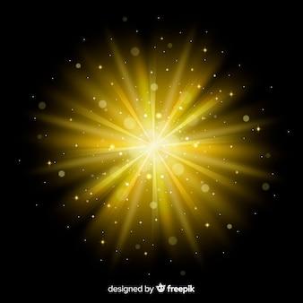 Effetto di luce alba incandescente