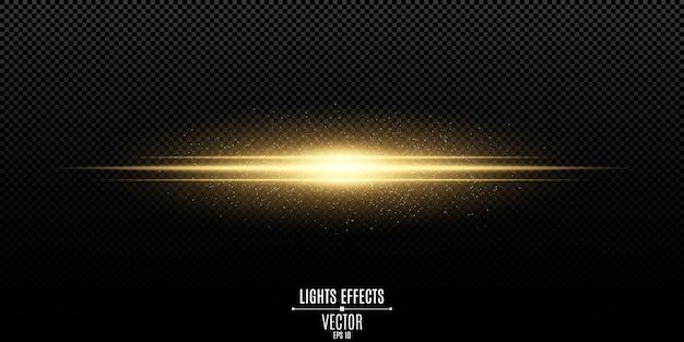 Effetto di luce elegante magico astratto su trasparente