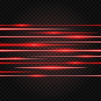 Effetto di luce laser rosso astratto illuminato