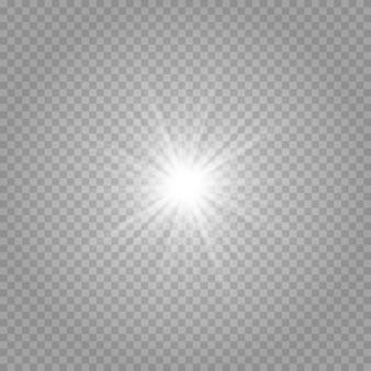 Effetto di luci incandescenti, bagliori, esplosioni e stelle