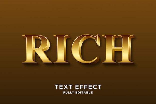 Effetto di lusso in oro di alta qualità