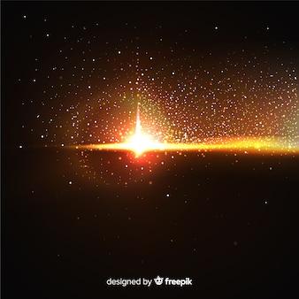 Effetto di particelle esplosive su sfondo nero