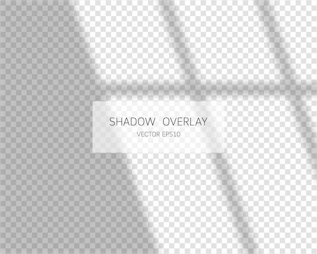 Effetto di sovrapposizione dell'ombra. finestra a forma di ombra morbida.