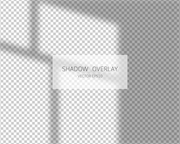 Effetto di sovrapposizione dell'ombra. ombre naturali dalla finestra isolata
