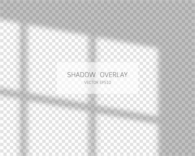 Effetto di sovrapposizione dell'ombra. ombre naturali dalla finestra isolato su sfondo trasparente.
