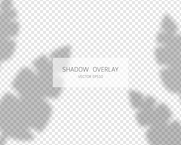 Effetto di sovrapposizione dell'ombra. ombre naturali isolate su sfondo trasparente.