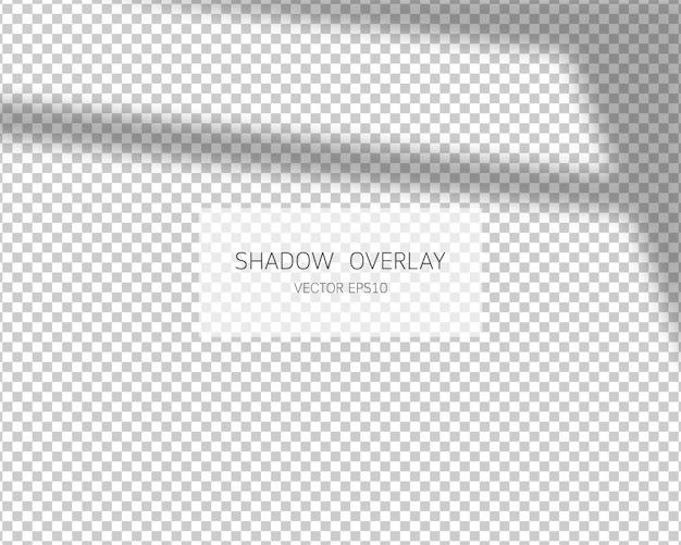 Effetto di sovrapposizione dell'ombra. ombre naturali isolate