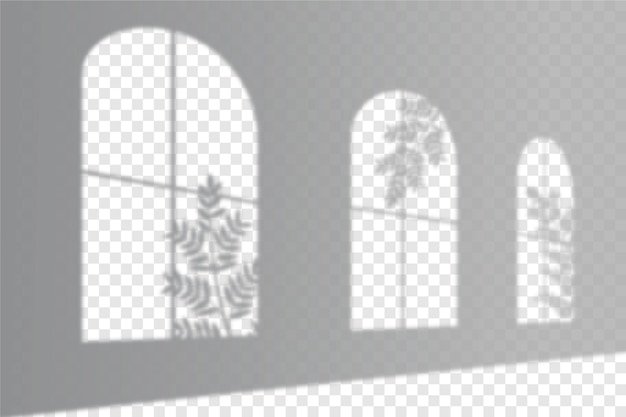 Effetto di sovrapposizione di ombre trasparenti