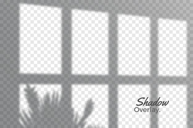 Effetto di sovrapposizione grigio del tema ombre trasparenti