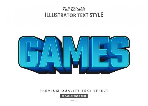Effetto di stile del testo del titolo 3d dei giochi del fumetto
