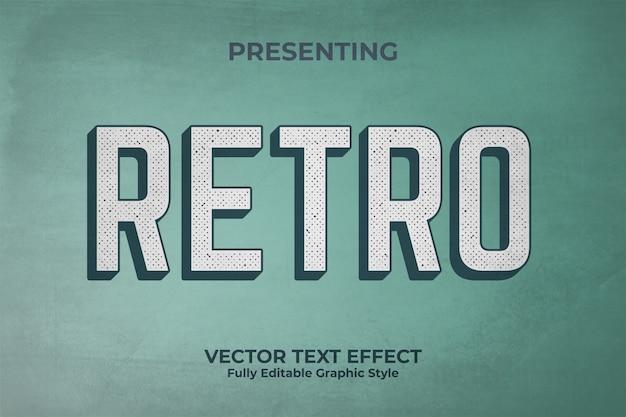 Effetto di stile del testo di retro vecchio sguardo 3d