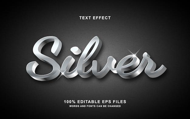 Effetto di stile di carattere d'argento 3d