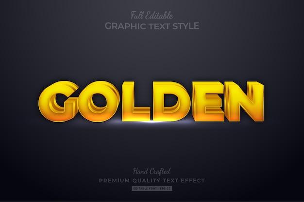 Effetto di stile di testo modificabile dorato eps premium