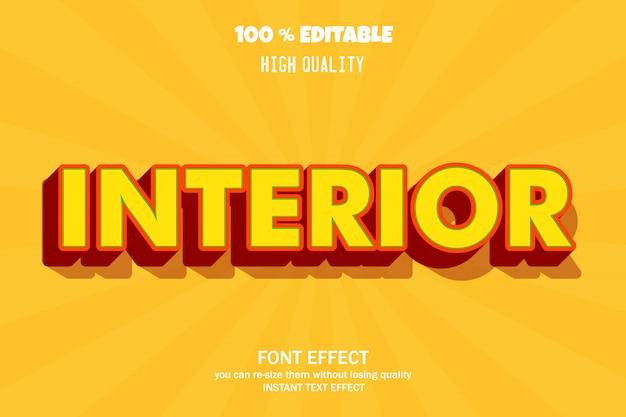 Effetto di testo 3d moderno, carattere modificabile