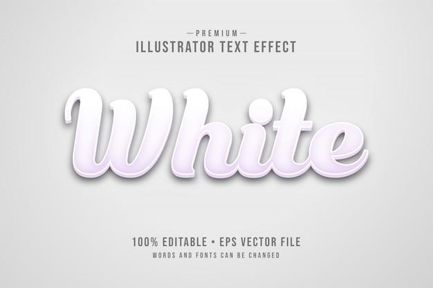 Effetto di testo 3d modificabile bianco o stile grafico con minimalista leggero