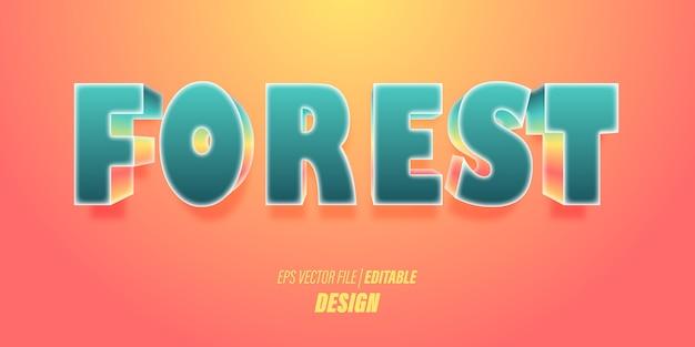 Effetto di testo 3d modificabile con brillanti colori sfumati tosca con temi giocosi