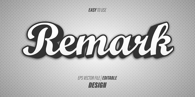 Effetto di testo 3d modificabile con caratteri corsivi moderni spessi e morbidi colori sfumati grigi con un tema retrò.