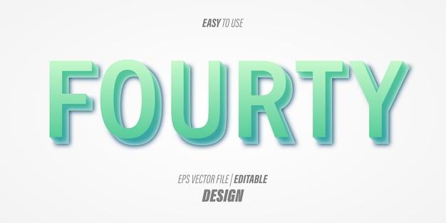 Effetto di testo 3d modificabile con caratteri sottili moderni e morbidi colori sfumati blu con un tema contemporaneo.