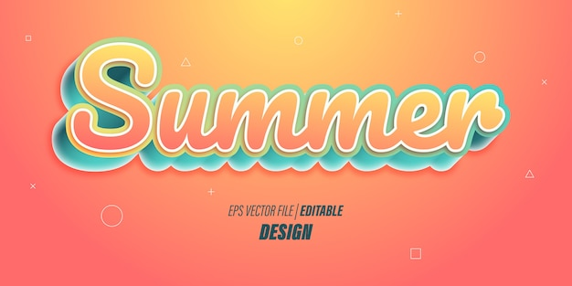 Effetto di testo 3d modificabile con colori sfumati arancioni brillanti con temi giocosi