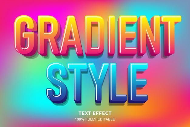 Effetto di testo caramella stile gradiente astratto, testo modificabile
