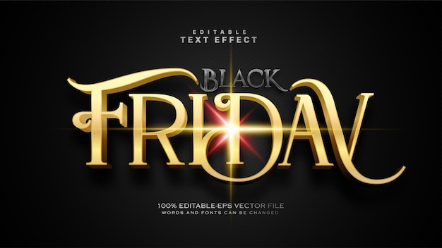 Effetto di testo del venerdì nero antico