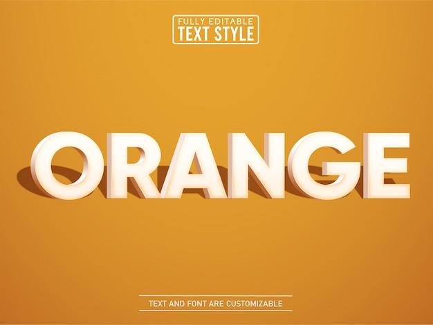 Effetto di testo elegante moderno arancione 3d