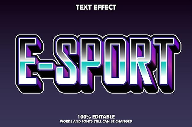 Effetto di testo moderno e-sport