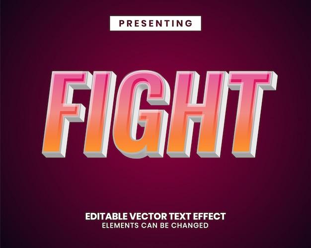 Effetto di testo modificabile 3d moderno con sfumatura di colore vibrante