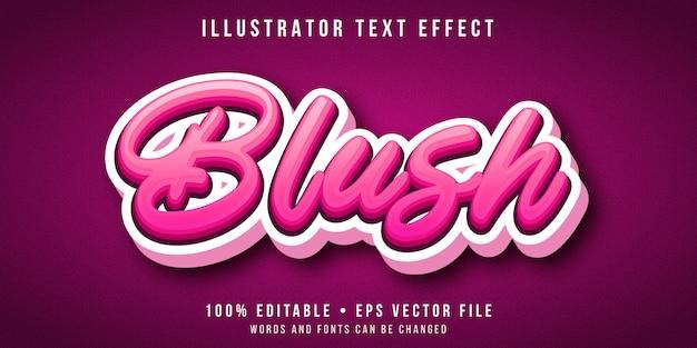 Effetto di testo modificabile - 3d stile di script rosa