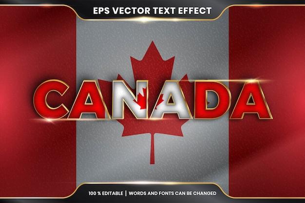 Effetto di testo modificabile - canada con la sua bandiera nazionale