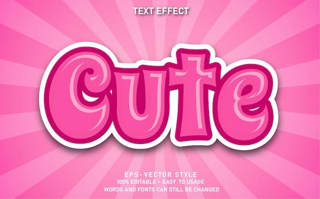 Effetto di testo modificabile carino rosa