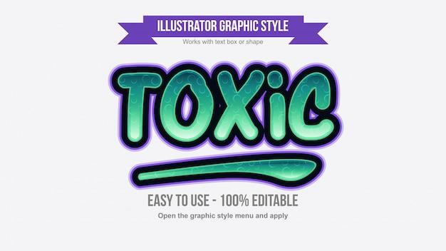 Effetto di testo modificabile cartoonish colorato verde e viola