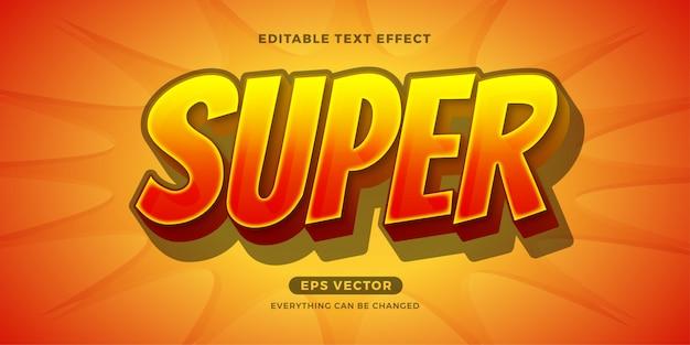 Effetto di testo modificabile di super hero