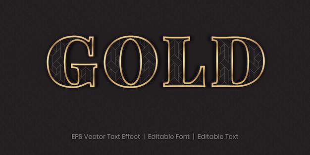 Effetto di testo modificabile elegante dorato di lusso