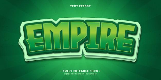 Effetto di testo modificabile - esporta lo stile di gioco