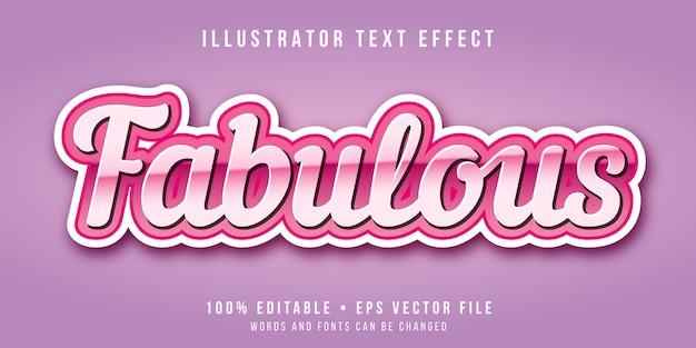 Effetto di testo modificabile - favoloso stile rosa