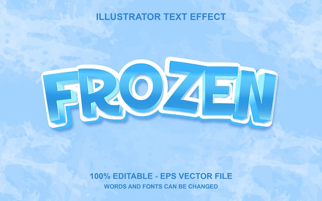 Effetto di testo modificabile frozen