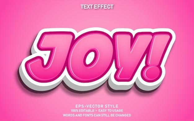 Effetto di testo modificabile gioia carina