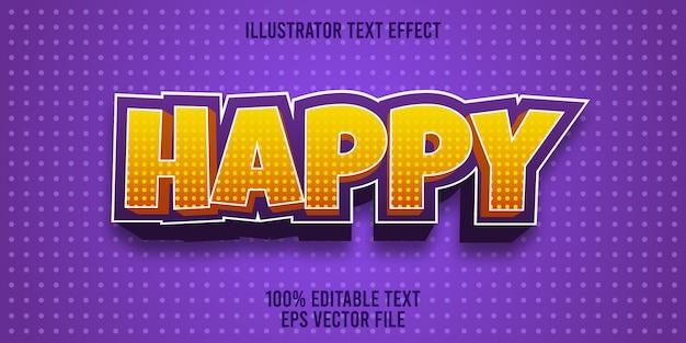 Effetto di testo modificabile happy style