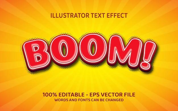 Effetto di testo modificabile, illustrazioni in stile boom
