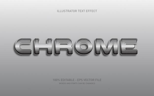 Effetto di testo modificabile, illustrazioni in stile cromato