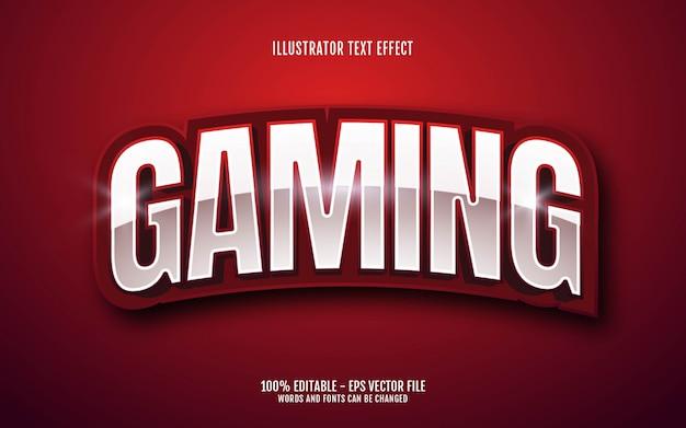 Effetto di testo modificabile, illustrazioni in stile gioco