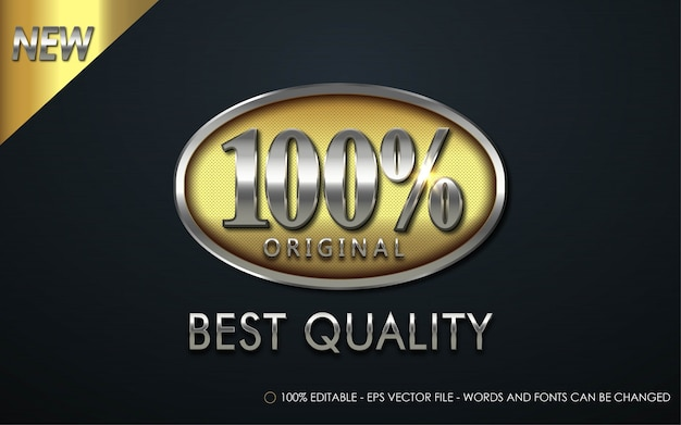 Effetto di testo modificabile, illustrazioni in stile originale al 100%