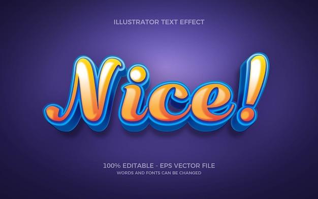 Effetto di testo modificabile, illustrazioni in stile piacevole