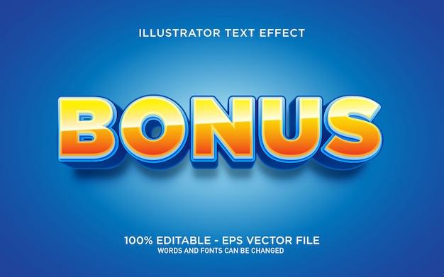 Effetto di testo modificabile, illustrazioni in stile testo bonus