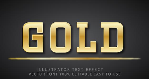 Effetto di testo modificabile in oro